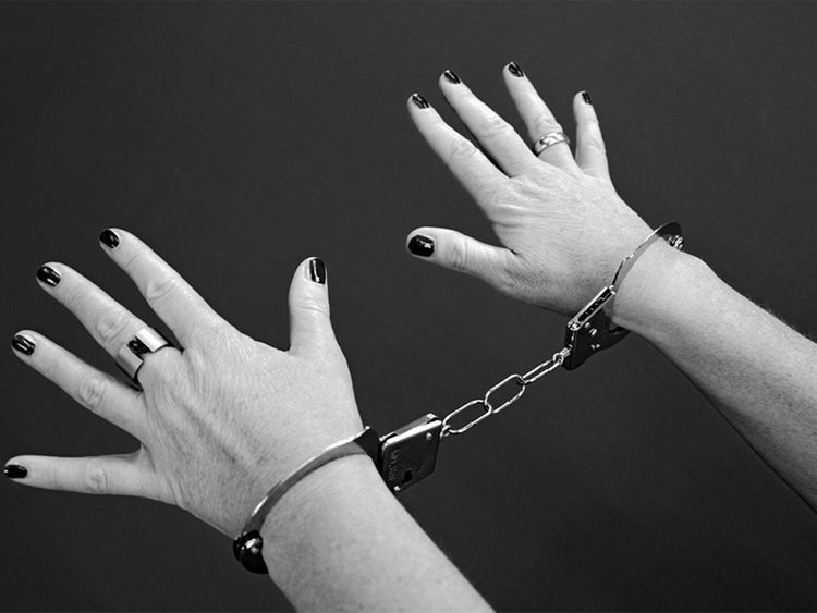 Woman jailed, jailed woman, jail, prison