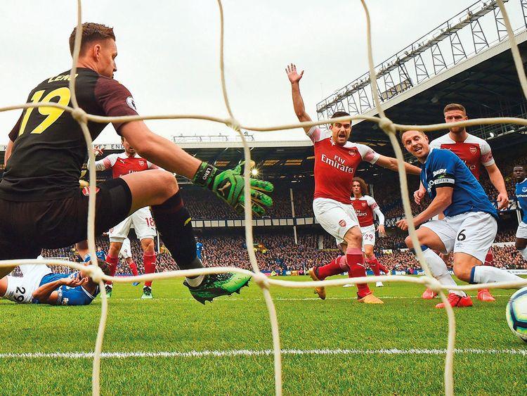 Everton's English defender Phil Jagielka