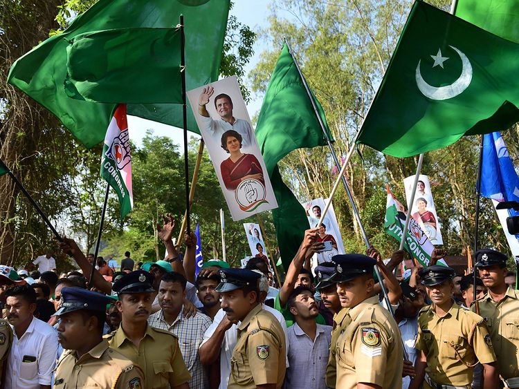 Indian Union Muslim League (IUML) supporters