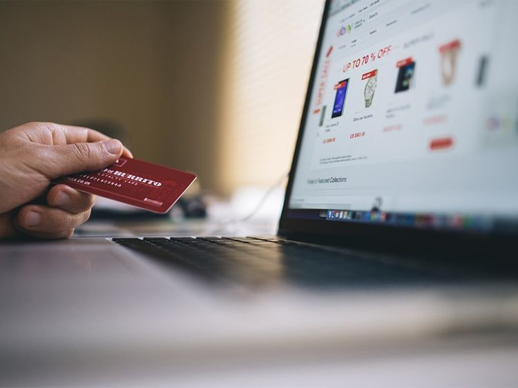 Online credit card purchase