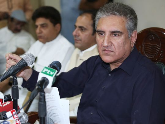 Pakistan's Foreign Minister Shah Mahmood Qureshi