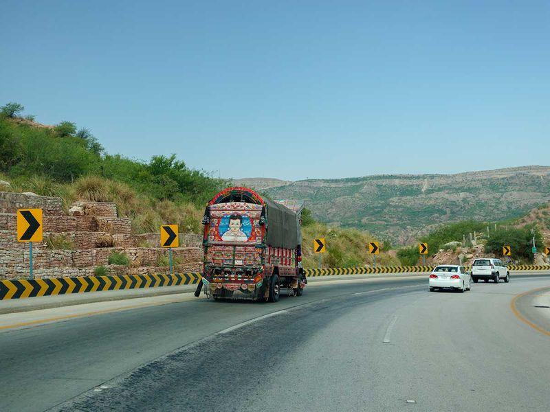A highway in Pakistan