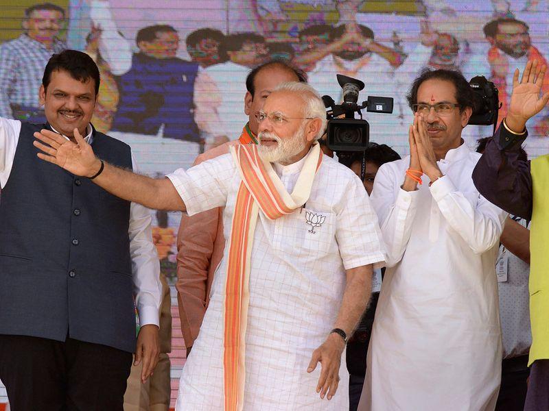 Prime Minister Narendra Modi, Shiv Sena chief Uddhav Thackeray