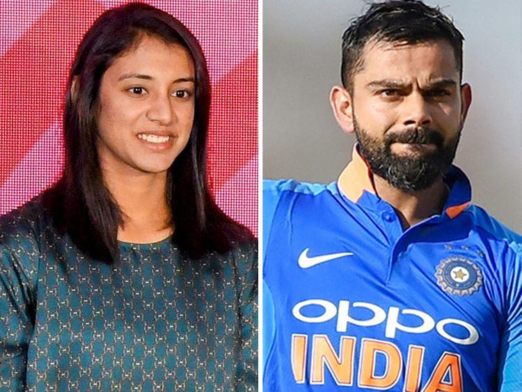 Smriti Mandhana and Virat Kohli