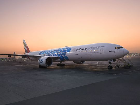 emirates plane expo2020