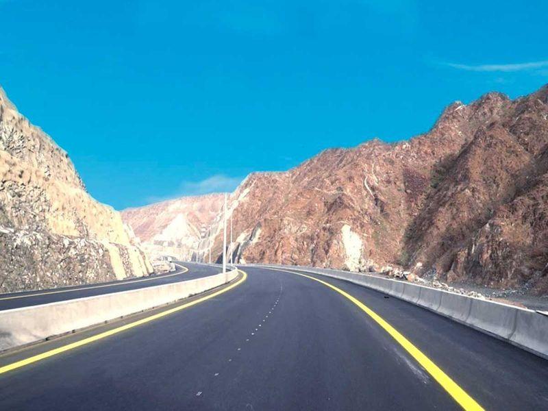 new sharjah-Khor Fakkan road