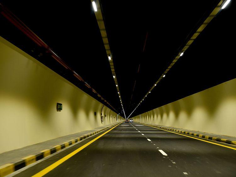 Al Multaqa tunnel on the new Sharjah-Khor Fakkan road.