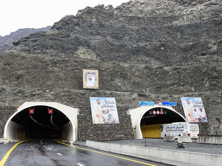 Al Multaqa tunnel on the new Sharjah-Khor Fakkan road
