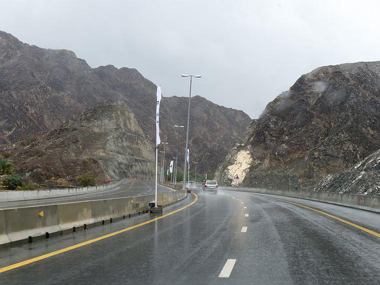 The new Sharjah-Khor Fakkan road
