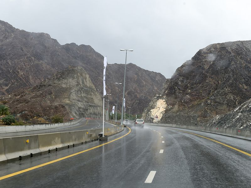 The new Sharjah-Khor Fakkan road