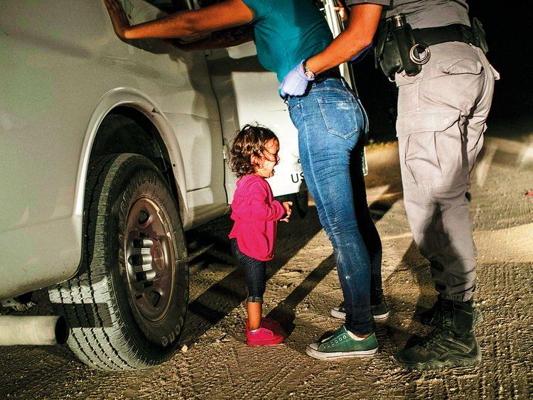 This photo of Honduran toddler Yanela Sanchez crying