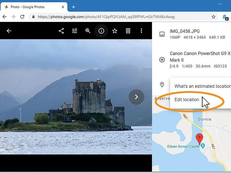 An undated handout screen grab shows how Google Photos