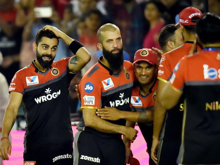 Royal Challengers Bangalore captain Virat Kohli celebrates