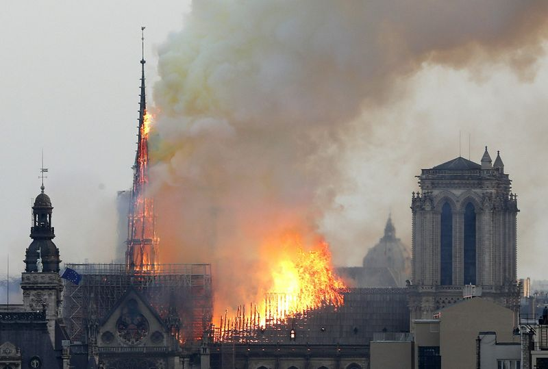 Flames rise from Notre Dame cathedral fire 05