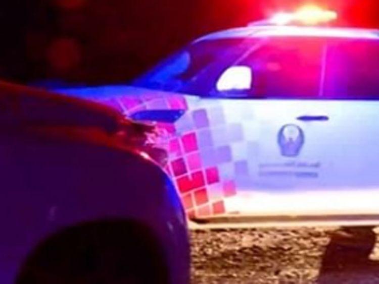 Ras Al Khaimah police car wadi