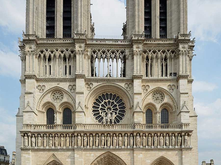 notre-dame paris west view