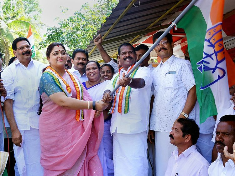 Actor-turned-politician and Congress leader Khushboo Sundar