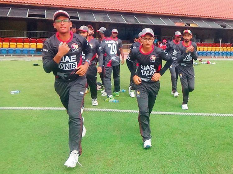 UAE team return to the pavilion