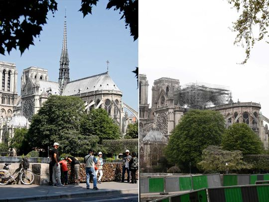 notre dame before and after