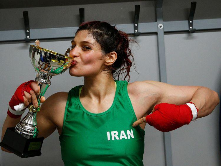 Iranian boxer Sadaf Khadem