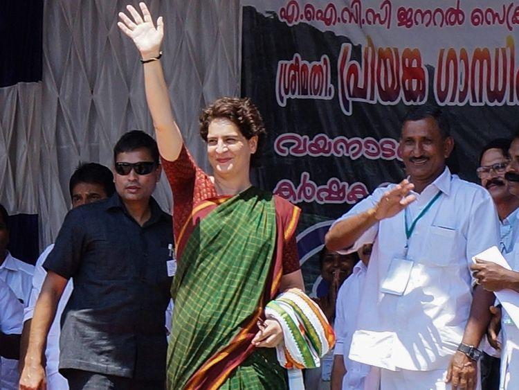 Congress' general secretary Priyanka Gandhi Vadra