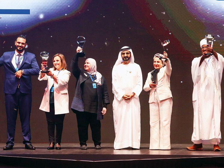 Shaikh Mohammad Bin Rashid with Mahmoud Wahid