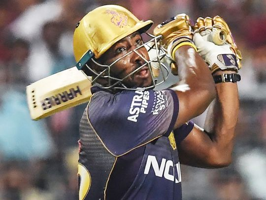 Kolkata Knight Riders' cricketer Andre Russell