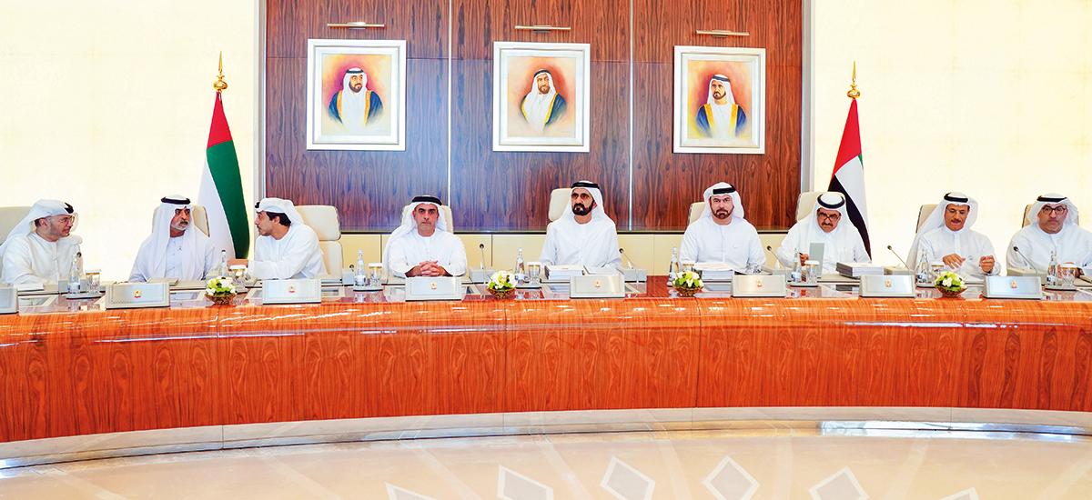 Shaikh Mohammad Bin Rashid Al Maktoum chairs a Cabinet meeting