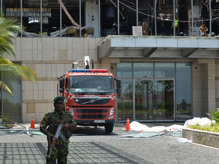 Sri Lanka blasts hotel