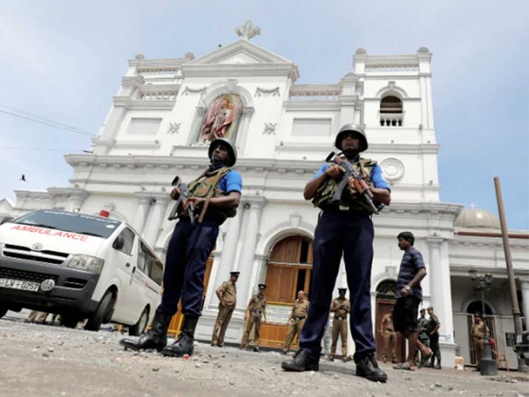 Sri Lankan military officials church bombing 02