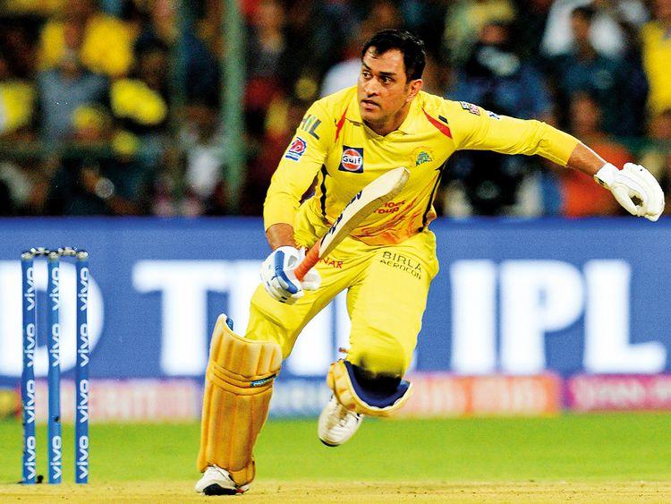 Chennai Super Kings skipper Mahendra Singh Dhoni scampers