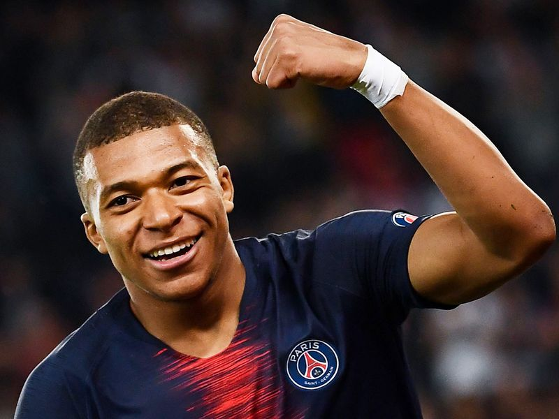 Paris Saint-Germain's French forward Kylian Mbappe