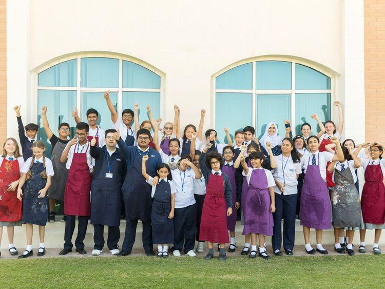 Students from Repton School, Dubai and Manzil Cenre, Sharjah.