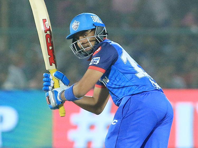 Delhi Capitals' Prithvi Shaw bats