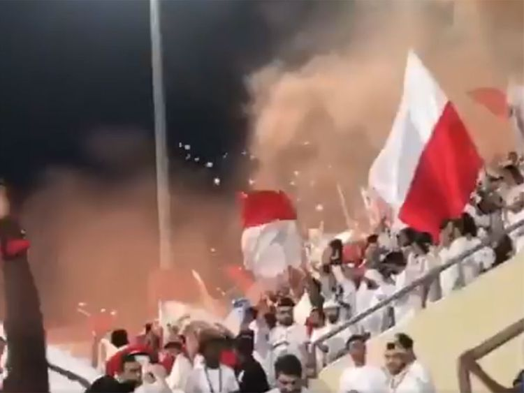 Football hooligans at Sharjah stadium