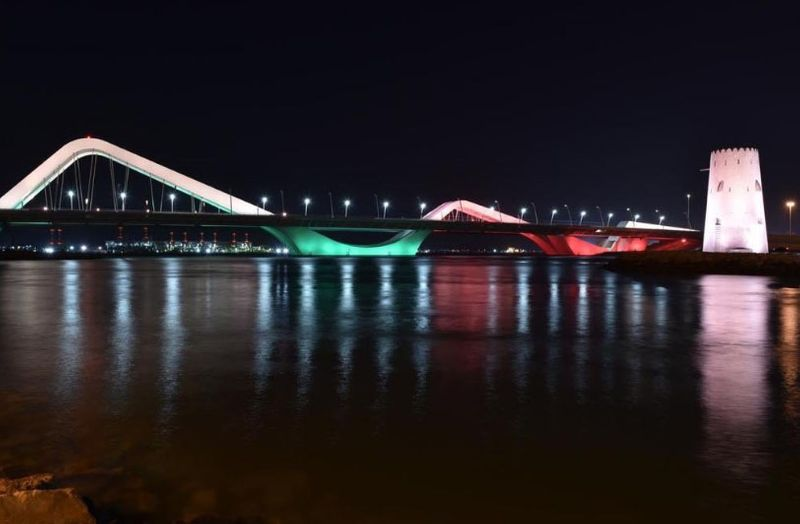 Abu Dhabi bridge in Sri Lanka colours