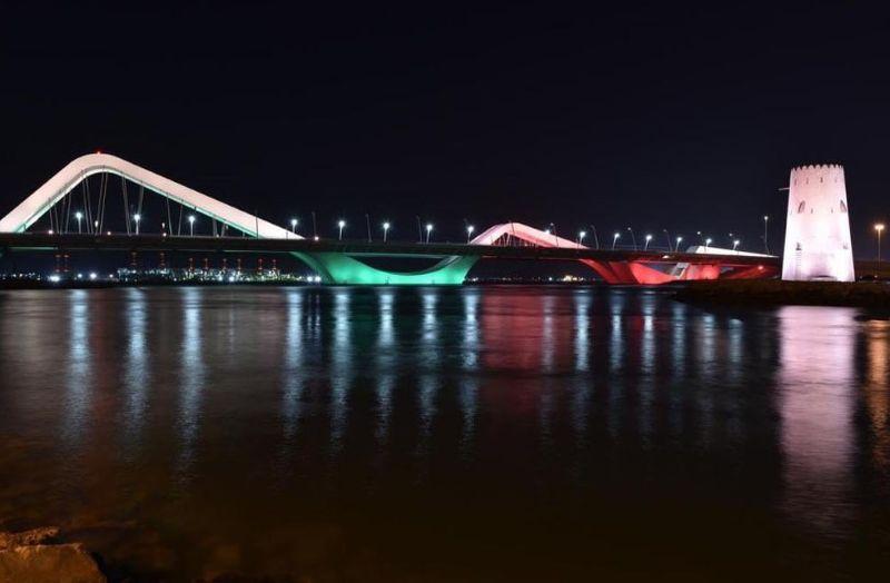 Abu Dhabi bridge in Sri Lanka colours