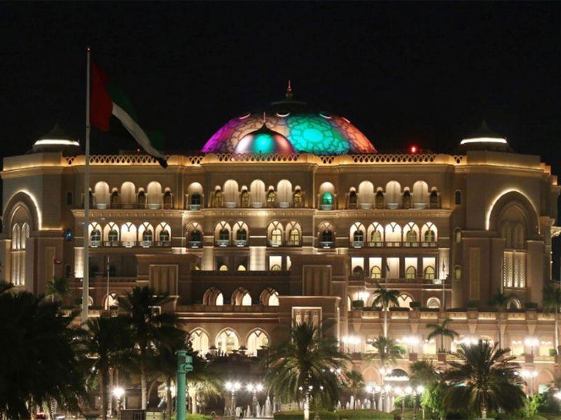 Emirates Palace with Sri Lanka colours