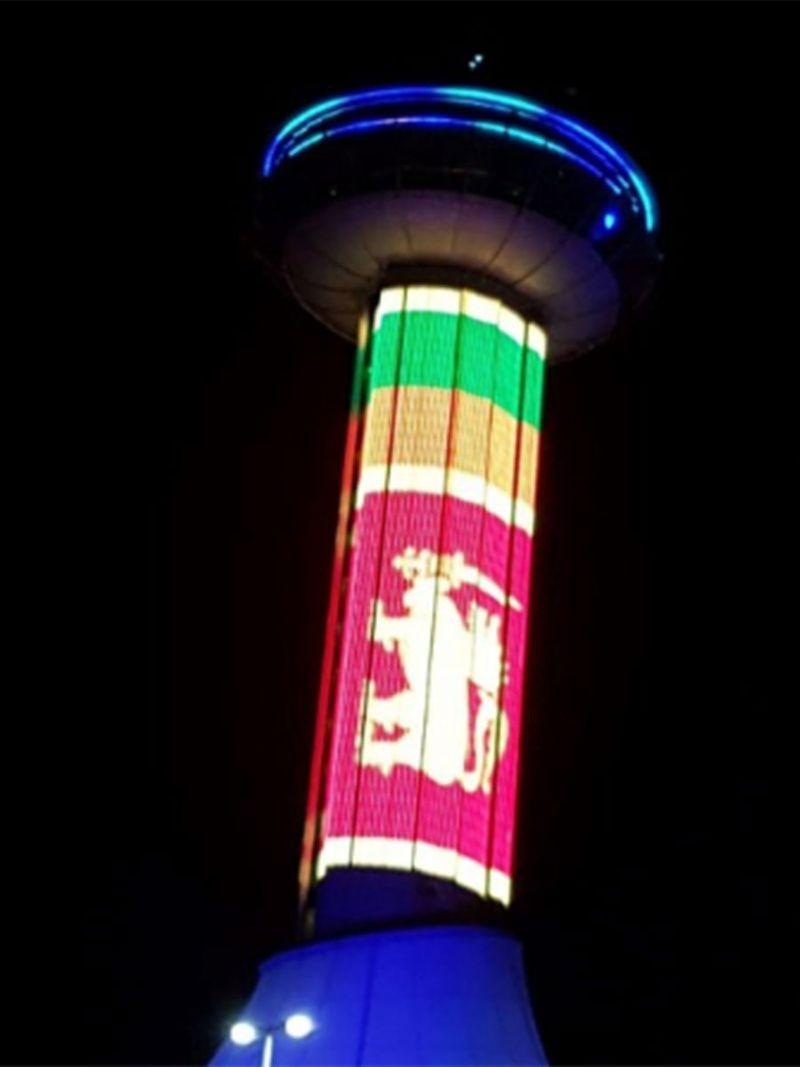 Sri Lanka colours on Abu Dhabi landmarks