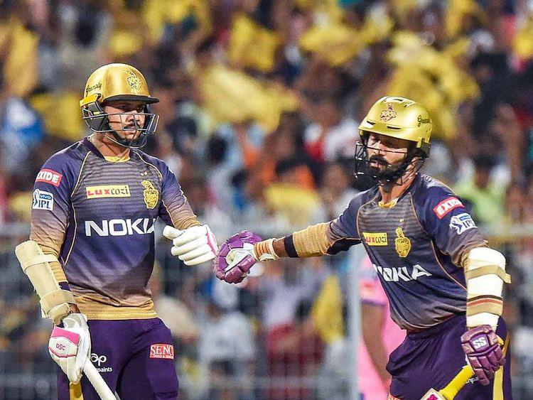 Sunil Narine  and Dinesh Karthik 20190426