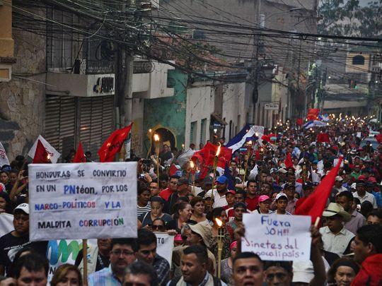 19027 Honduran protesters