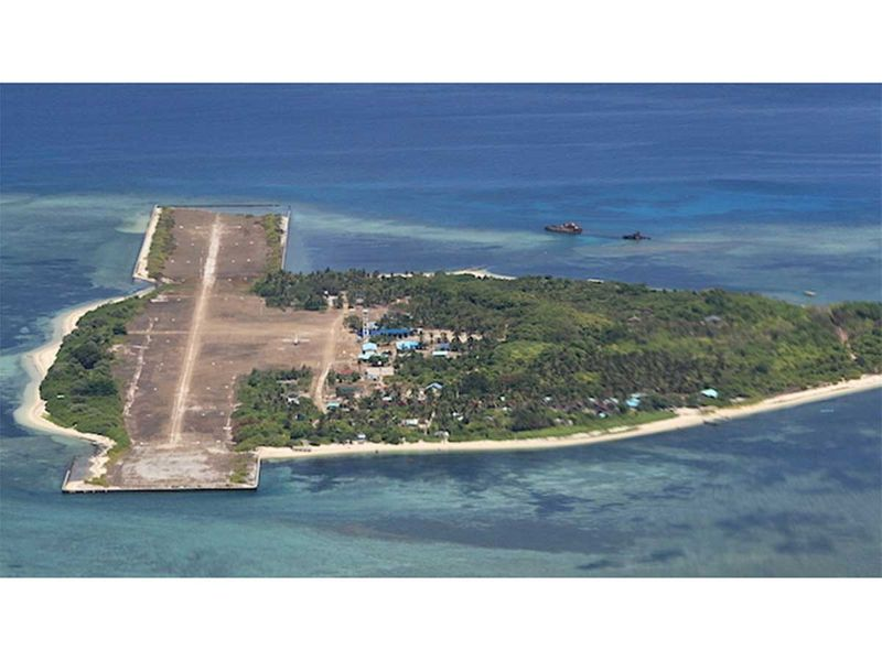 An aerial view of Pagasa Island (Thitu) in the Spratlys 002021