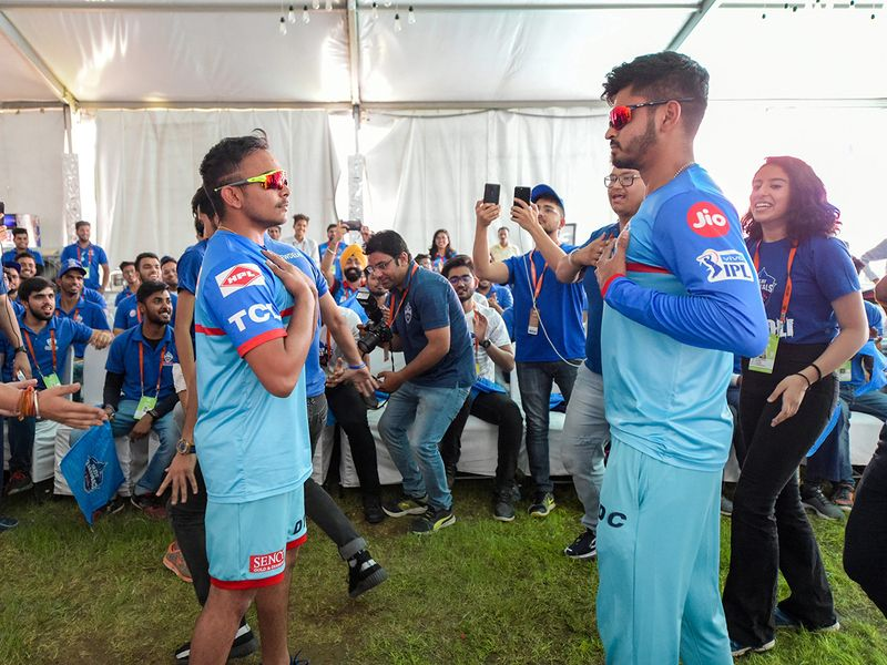 Delhi Capitals captain Shreyas Iyer and teammate Prithvi Sha
