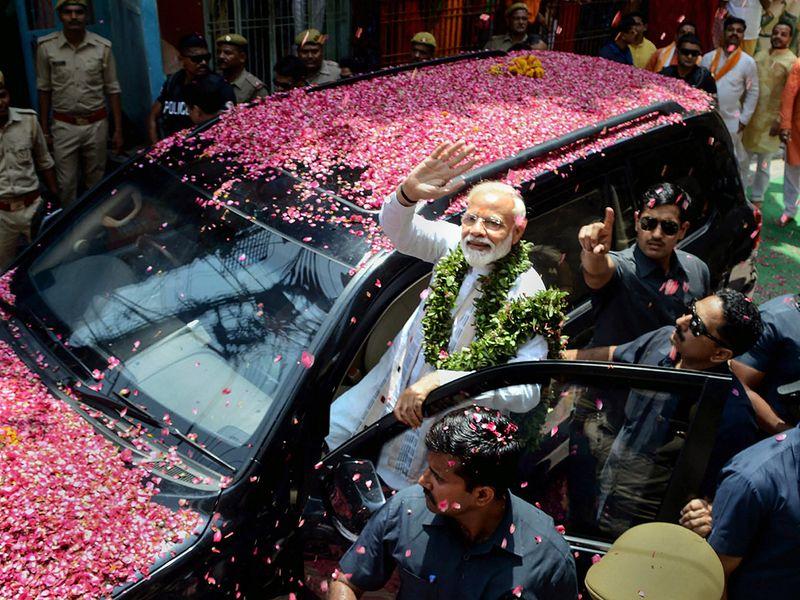 Prime Minister Narendra Modi waves