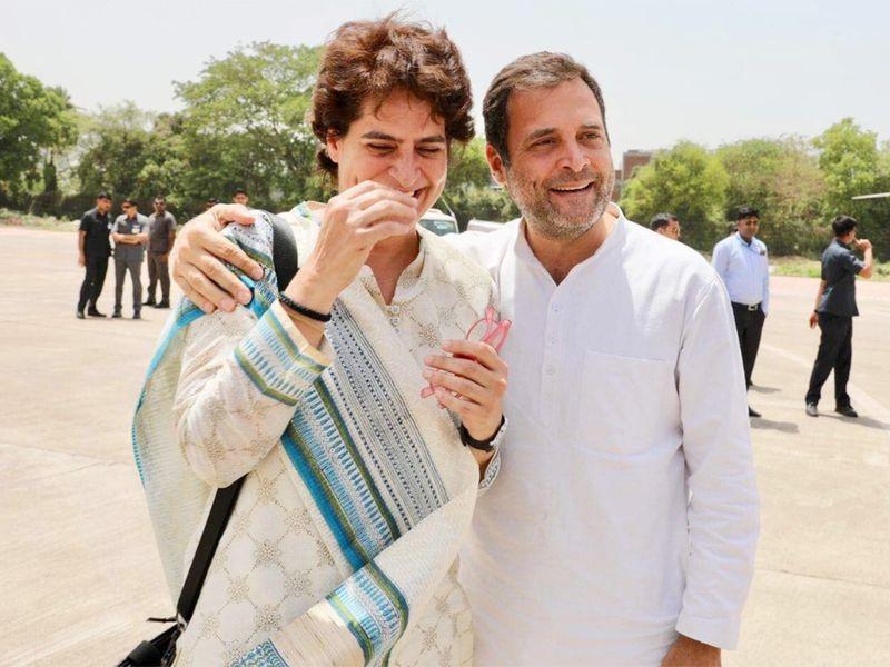 Rahul Gandhi with sister Priyanka Gandhi Vadra 2