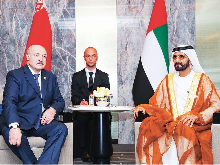Shaikh Mohammad with Alexander Lukashenko
