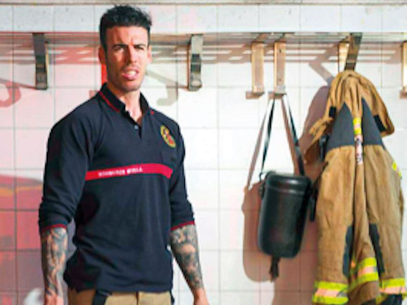 Spanish firefighter Miguel Roldan