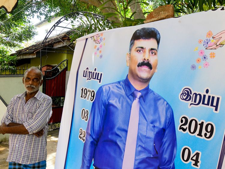 Velusami Raju, father of the Zion Church suicide blast victim Ramesh Raju