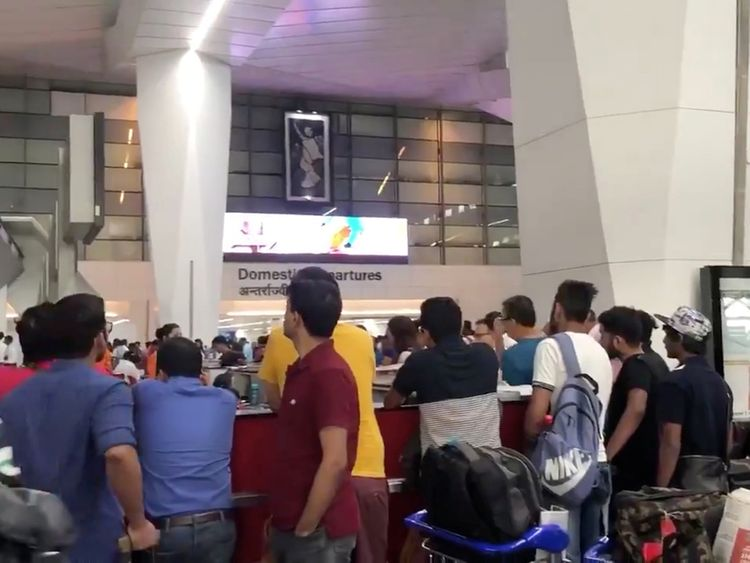 Air India flight passengers stranded