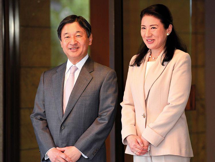 Japanese Crown Prince Naruhito (left) and Crown Princess Masako